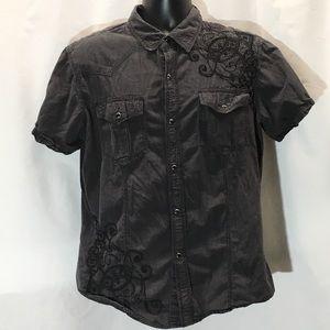 Pop Icon short sleeve button down men's XL